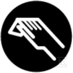 Wkładka przycisku M22-XD-S-X9 płaska czarna z opisem