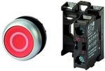 Napęd M22-D-R-X0/K01 przycisk płaski czerwony 1R bez samopowrotu
