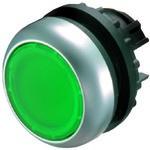 Napęd M22-DRL-G przycisk podświetlany płaski zielony bez samopowrotu