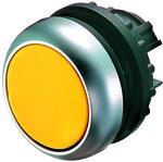 Napęd M22-DL-Y przycisk podświetlany płaski żółty z samopowrotem