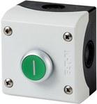 Napęd M22-D-G-X1/KC11/I przycisk płaski zielony 1Z1R bez samopowrotu