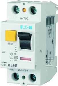 Wyłącznik różnicowoprądowy 2-biegunowy CFI6-25/2/003-A-DE