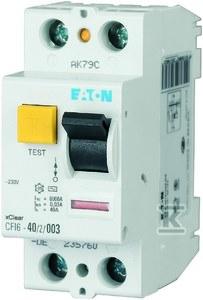 Wyłącznik różnicowoprądowy 2-biegunowy CFI6-40/2/003-DE