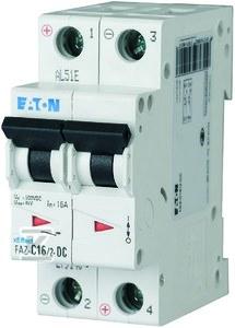 Wyłącznik nadprądowy na prąd stały 2-biegunowy FAZ-C2/2-DC