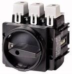 P5-315/EA/SVB-SW/HI10 Rozłącznik do wbudowania z czarnym pokrętłem z blokowaniem na kłódkę, zamykane w położeniu 0, z 1 obwodem pomocniczym zwiernym, In=315A, P=110kW