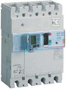 Wyłącznik mocy z wyzwalaczem termiczno-magnetycznym z wbudowanym zabezpieczeniem różnicowoprądowym DPX3 250+BL.R 4P 160A 70KA
