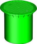 Pokrywa rewizyjna DN200 tworzywowa, kolor zielony