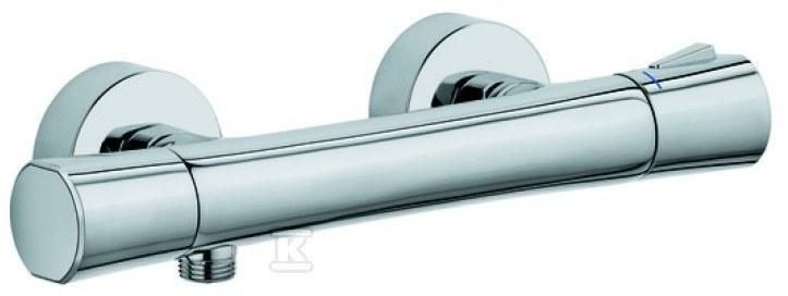 ZENTA bateria natrysk z termostatem DN 15 z perlatorem uchwytem regulacji temperatury z blokadą przy 38°C z zaworem zwrotnym i sitkiem wychwytującym zanieczyszczenia