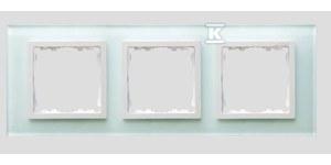 Ramka 3-krotna szkło - natural / ramka pośrednia biała Simon 82