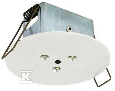 Oprawa EYE LED okrągła LED 3x1W 360lm do centralnej baterii biała Nr.kat.: EY/3x1W/F/CB/WH