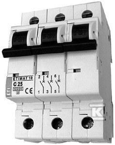 Wyłącznik nadprądowy ETIMAT 10 3p B25
