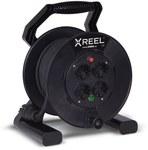 """Przedłużacz zwijany jednofazowy na bębnie z tworzywa typ """"XREEL"""" - wejście 20 mb H05RR-F 3x1,5 (OW) wtyczka gumowa 16A wyjście 4xGS termik IP20"""