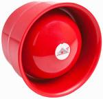 Sygnalizator akustyczny 101 dBA,adresowalny, 5 mA, zasilany z pętli, płytka puszka, czerwony, 3 tony ustawiane na centrali pożarowej, IP 65 PROTEC 6000/SSR2