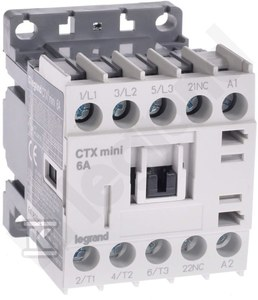 Stycznik CTX3 MINI 3P 6A 1NC 230V AC