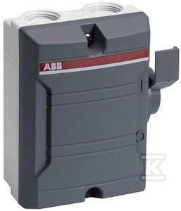 BW325TPN Rozłącznik bezpieczeństwa w obudowie, 25A, 3-biegunowy, IP 65, napęd boczny, kolor szary