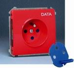 Gniazdo DATA z uziemnieniem MGD.01/22 (moduł) Classic czerwone