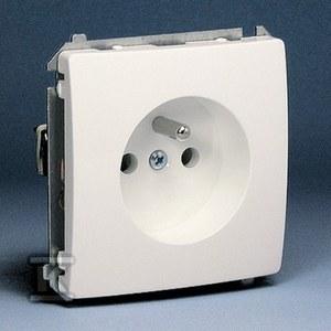 Gniazdo z uziemnieniem pojedyncze BMGZ1.01/11 Basic moduł biały