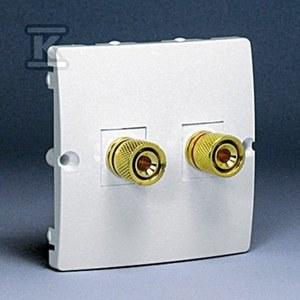 Gniazdo głośnikowe BMGL2.02/11 Basic moduł biały