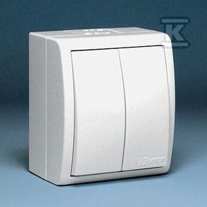 Łącznik schodowy podwójny n/t IP54 podświetlany AQW6/2L/11 Aquarius biały