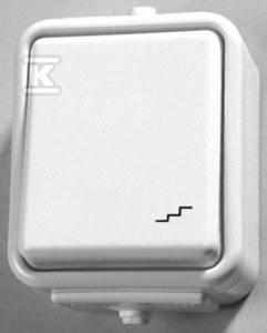 Łącznik natynkowy schodowy, biały CEDAR