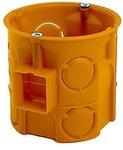 Puszka podtynkowa, głęboka, z wkrętami, pomarańczowa S 60DFW
