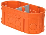 Puszka podtynkowa, głęboka, z wkrętami, pomarańczowa, M2x60F Multiwall