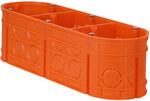 Puszka podtynkowa, głęboka, z wkrętami, pomarańczowa M3x60F Multiwall