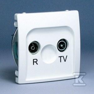 Gniazdo RTV przelotowe 20db BMZAP20/1.01/11 Basic moduł biały