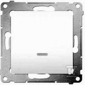 Łącznik 1-biegunowy z sygnalizacją załączenia LED (moduł) 10 AX, biały Simon54
