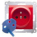 Gniazdo DATA z kluczem uprawniającym, czerwony Simon54