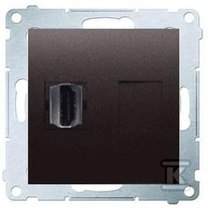 Gniazdo HDMI, antracyt Simon54