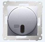 Ściemniacz zdalnie sterowany 20-500 W, srebrny mat Simon54