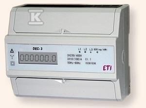 Wskaźnik zużycia energii 3-fazowy DEC-3