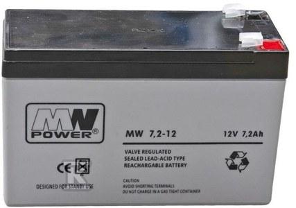 MW Power Akumulator AGM AGM 12V/7,2Ah 6-9 lat