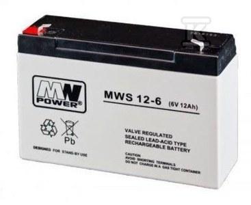 MW Power Akumulator AGM AGM 6V/12Ah 5 lat