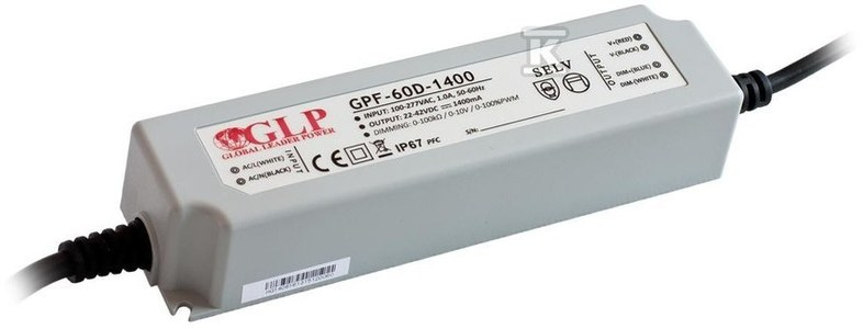 GLP zasilacz LED 1750mA/20-36V, GPF