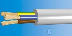 Przewód mieszkaniowy OMY-ŻO (H03VV-F) 3x1,0 300V biały /100m/