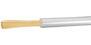 Przewód instalacyjny giętki LGY 0,5 500V biały linka (H05V-K) /100m/