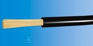 Przewód instalacyjny giętki LGY 1,5 750V czarny linka /100m/