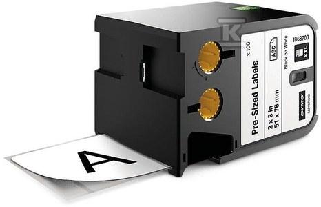 DYMO XTL 100 sztuk wymiarowych etykiet (51 mmx76 mm), czarny na białym