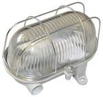 Oprawa kanałowa OVAL-7040T, E27, 60W, biała-polipropylen, klosz przeźroczysty-szkło, IP54, siatka metalowa
