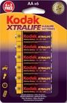 Bateria alkaliczna KODAK XTRALIFE KAA 4+2 (LR6), blister=6 szt