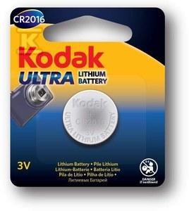 Bateria Litowa Kodak Ultra Lithium CR2016 , blister=1 szt