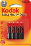Bateria cynkowo-węglowa KODAK K3AHZ-4 (R3), blister=4 szt