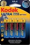 Bateria alkaliczna KODAK Ultra Premium AA-4 LR6, blister=4 szt