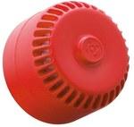 Sygnalizator akustyczny ROLP czerwony, podstawa płytka. Element systemu pożarowego (P.POŻ). ROLP/SV/R/S