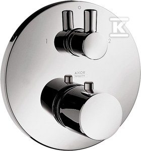 AXOR Uno 2 Bateria termostatowa DN15/DN20 z zaworem odcinająco-przełączającym, element zewnętrzny z termoelementem - chrom