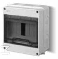 Rozdzielnica natynkowa EP-LUX CLASSIC typ: RN 1/7 liczba modułowa 7 IP40 zaciski N+PE drzwi transparentne dymne