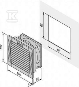 Wentylator z filtrem FL100 230V RAL7035