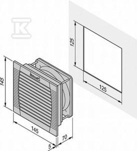 Wentylator z filtrem FL200 24V RAL7035